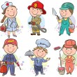 Professions kids set 3 — Vector de stock