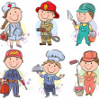 Stock Vector: Professions kids set 3