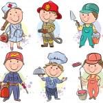 Kомплект для детеи профессий 3 — Cтоковый вектор