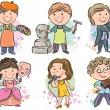 Royalty-Free Stock Imagem Vetorial: Professions kids set 2