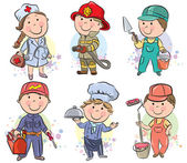 Professions kids set 3 — Stock Vector