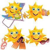 Fun sun on vacation — Stock Vector