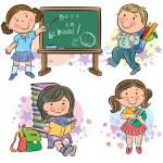 Schoolchildren — Stock Vector #28018019