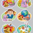 School stickers — Stock Vector