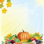 Herbst-Ernte-Hintergrund — Stockvektor