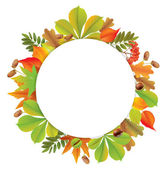 Round autumn banner — Stock Vector