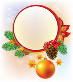 Round Christmas banner — Stock Vector