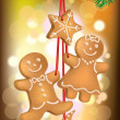Christmas cookies on the Christmas tree — Stock Vector
