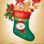 frohe weihnachten grußkarte — Stockvektor
