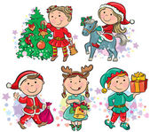 Christmas kids — Stock Vector