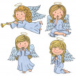 Stock Vector: Cute angels