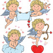 Vector de stock : Cupids kids 2