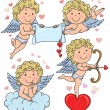 Stock Vector: Cupids kids 2