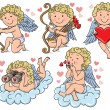 Stock Vector: Cupids kids