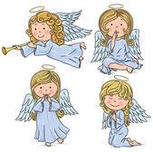 Söta änglar — Stockvektor