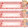 Wektor stockowy : Valentines Day banners with cupid
