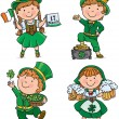 Stock Vector: St. Patricks Day cute kids