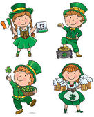 St. Patricks Day cute kids — Stock Vector