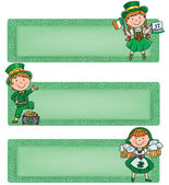 Happy St. Patrick horizontal banners — Stock Vector
