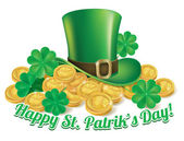 Hat and coins St. Patrick — Stock Vector