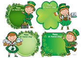 Happy St. Patricks Day greeting banners — Stock Vector
