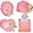 Stock Vector: Vignettes Valentines Day