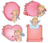 Vignettes Valentines Day — Vector de stock