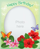Birthday frames for photos — Stock Vector