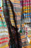 Traditional handwoven fabrics — Stock Photo
