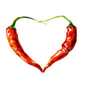 Heart from chili pepper — Stock fotografie
