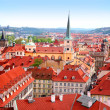 View over historic center of Prague — Stock Photo