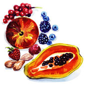 Group of exotic fruits — Stock Photo