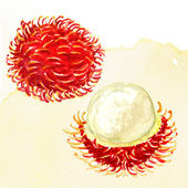 Fresh rambutan. — Stock Photo
