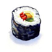 Traditional japanese sushi rolls isolated — Stock Photo