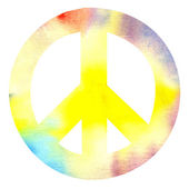 Peace sign pacific — Stock Photo