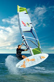 Extreme windsurfing trick — Stock Photo