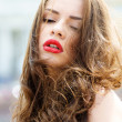 Portrait of young beautiful girl — Stock Photo #13850889