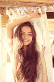 Attractive smiling girl — Stock Photo