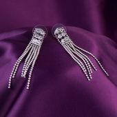 Gümüş küpe — Stok fotoğraf