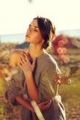 Autumn portrait of beautiful woman — Stock Photo