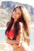 Pretty woman in bikini — Stock Photo