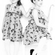 Fashion little girls — Stock Photo