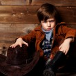 Little cowboy — Stock Photo