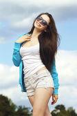 Menina casual — Fotografia Stock