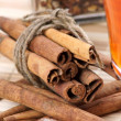 Royalty-Free Stock Photo: Cinnamon, tea and ginger