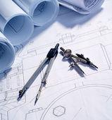 Dibujos de ingeniería — Foto de Stock