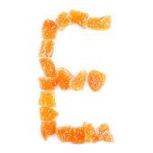 Letra e — Foto Stock