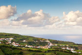 View to small city, Azores, Portugal — Stok fotoğraf