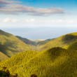 Aerial view to the Atlantic ocean over mountains — Stock Photo #22079851