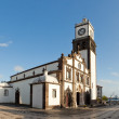 Clock tower of Church of San Sebastian at Ponta Delgada — Stock Photo